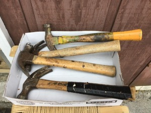 Box four claw hammers