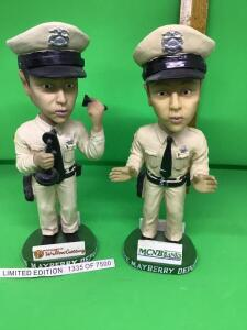 Barney Fife, Mayberry bobble heads.  8 inches