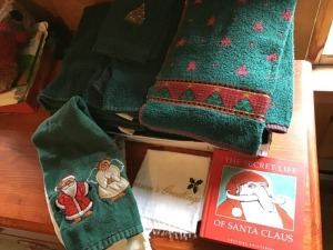 Christmas towels and linens