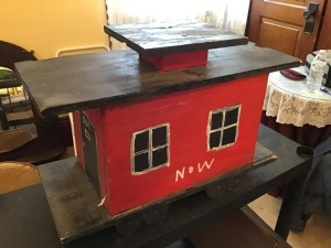 Homemade N and W birdhouse