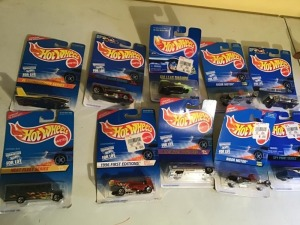 Lot ten Hot Wheels die cast