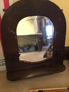 Vintage wall mirror.  Needs TLC